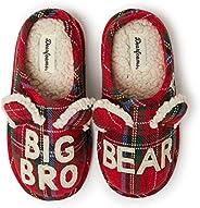 Dearfoams Family Collection 嬰兒熊格子封閉拖鞋