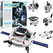KATGROCHIR STEM 太阳能机器人玩具 6 合 1 科学机器人套件,学习科学构建实验套件,太阳能和电池驱动,8-12 岁儿童和男孩女孩的礼物
