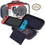 官方*任天堂 Switch Zelda: Sheikah Eye 便携包 – 保护性豪华旅行盒,带可调节观察支架 – 包括游戏盒