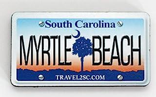 Myrtle Beach 南卡罗来纳州牌照木质冰箱贴 7.62 厘米 x 3.81 厘米