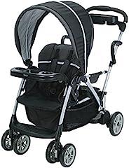 【Amazon.co.jp限定】Graco (葛莱)双座婴儿车 家居服 (Room for 2) 哥萨姆 BK [家人托盘 & 下篮 & 儿童用托盘装备]