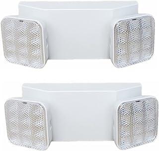 7Leds 双头应急灯,可调节集成 LED 应急照明,带备用电池(2 件装)