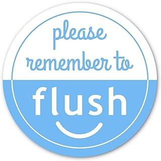 Crafted-Brand Flush The 厕所贴纸   使用这款重型乙烯基浴室提醒贴纸(5.4 cm)