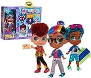 Hairdorables DUDEables 可收藏的玩偶-系列1(樣式可能有所不同),多種顏色