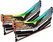OLOy DDR4 RAM 32GB (2x16GB) Warhawk Aura Sync RGB 4000 MHz CL18 1.4V 288-Pin 桌面游戏 UDIMM (MD4U1640180BE0DA)