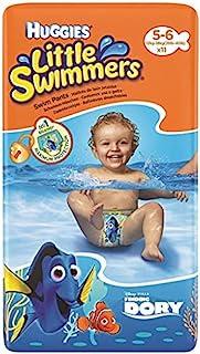 Huggies 小游泳者游泳尿布多莉设计 中号 5-6,11 件