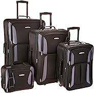 Rockland 行李旅行软边直立套装 黑色/灰色 4-Piece Set (14/19/24/28)