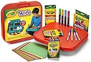 Crayola 繪兒樂 Create 'N Carry 藝術套裝 為5歲及以上兒童提供的手工禮品,2合1便攜式書桌和小小藝術家隨身攜帶包,共75件包括馬克筆、蠟筆、彩色鉛筆和紙張,款式可能