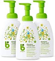 BabyGanics 甘尼克宝贝 婴儿洗发 + 沐浴二合一洗涤液,含洋甘菊马鞭草成分, 16 液体盎司(473ml)*3 瓶(包装随机)