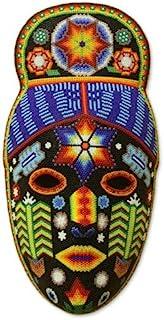 NOVICA 装饰木面具,多色