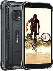 坚固耐用的手机解锁,Blackview BV4900,Android 10坚固智能手机,5580mAh 4G GSM 网络手机,5.7英寸高清+手机,3GB+32GB防水解锁智能手机,NFC 坚固手机