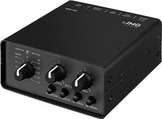 IMG STAGELINE MPA-102 1 通道低噪音麦克风前置放大器 黑色