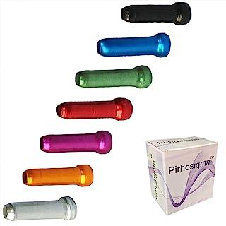 Pirhosigma 电缆端压接器 1.8 毫米合金公路山地自行车刹车头移位器 10 件红色 黑色 金色 银色 * 蓝色 紫色 共 70 件
