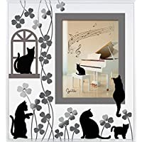 GENTIE 黑猫玻璃相框 Dear Cats 系列 G-3144BK 日本制造