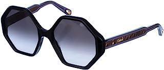 Chloé CE750S 001 黑色柳条圆形太阳镜 镜片类别 2 尺寸 55 毫米
