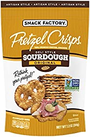 Snack Factory Pretzel Crisps, Sourdough, 7.2 Oz