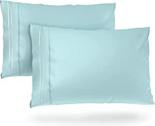Cosy House 系列枕套 - 1500 系列 - 奢华枕套 2 件套 - 高级超软*店优质枕套 - 凉爽无皱 - 低*性 浅蓝色 King 0E-9W6N-OXKC-CA