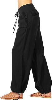 Hard Tail 女式宽松工装亚麻长裤