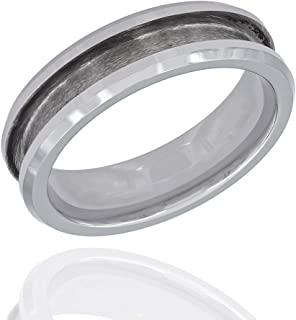 镶嵌戒指首饰制作的戒指芯坯料 - 钨,陶瓷 - 8 毫米宽,4 毫米槽