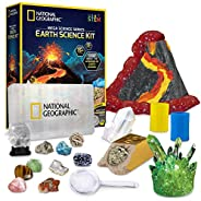 NATIONAL GEOGRAPHIC Earth Science Kit - Mega Science Lab with Over 15 Scientific Experiments and Activities, T