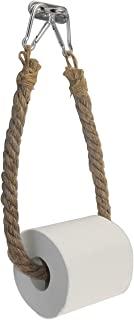 Autoly 航海绳壁挂式卫生纸架,西伯利亚工业风格,黄麻毛巾架,用于沿海海海滩家居装饰
