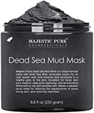 MAJESTIC PURE 死海泥面膜 男女皆适用-自然脸部和皮肤护理-黑脸清洁泥,用于黑头,白头,粉刺和毛孔-8.8液体盎司/250克