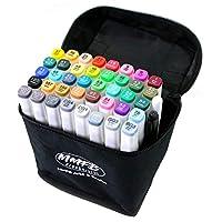 MMFB 艺术和工艺品双头艺术家马克笔 Fine & Chisel 40 Colors Lot B (White Pens)