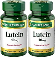 Nature's Bounty Lutein Softgels, 30 count (Pack o
