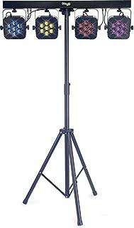 Stagg SLI FLATSET1-1 Tri-LED Adjustable Height Lighting Set with Aluminum Housings - Black