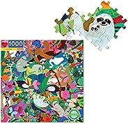 eeBoo 家庭拼图,1008 片 Sloths