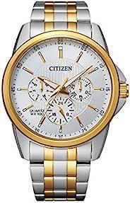 Citizen 西铁城 男式石英不锈钢表带 多色 22 休闲手表(型号:AG8344-57B)