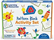 Learning Resources 图案积木活动套装,20 张双面卡片,适合 4 岁以上儿童