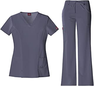 Dickies Xtreme 弹力女式 V 领上衣 82851 & 抽绳长裤 82011 *服套装