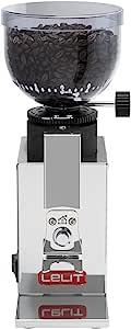 LELIT Fred PL043MMI 咖啡研磨机 不锈钢外壳 研磨度微调,不锈钢/钢材质