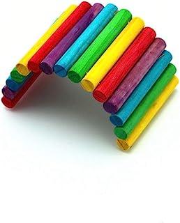 MNBD Gerbil 豚鼠彩色悬挂灵活啮齿动物隐藏屋爬梯仓鼠玩具鹦鹉梯桥(L)