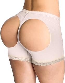 女式提臀蕾丝男孩短裤塑身衣增强型臀部无缝内裤平角短裤内衣
