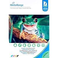 MediaRange A4 照片纸 适用于喷墨打印机 双面高光泽 160克 50 张
