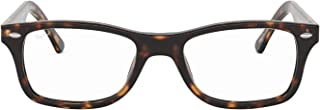 Ray-Ban Women's RX5228 Eyeglasses Top Dark Havana On Beige Text 53mm