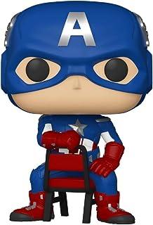 Funko POP!Marvel 收藏公司*终点信誉美国队长 #693 w / 免费亚克力盒
