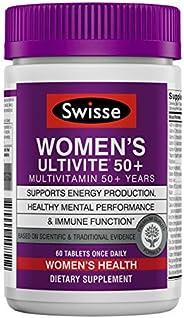 Swisse Premium Ultivite 每日女性復合維生素,50+   帶來能量和壓力的支持,富含抗氧化劑和礦物質  維生素A,維生素C,維生素D,生物素,鈣,鋅等   60片