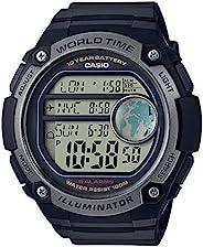 CASIO 系列男式数码手表树脂带–ae-3000W