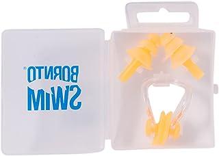 BornToSwim 耳塞和鼻夹套装 硅胶耳塞鼻夹 适合游泳