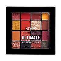 NYX 專業化妝系列 終極陰影眼影盤,16色,亮色和金屬色,可自主調色,顏色:鳳凰色