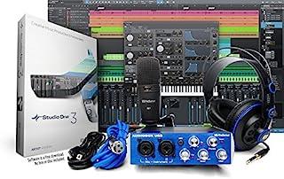 PreSonus AudioBox 工作室带耳机、麦克风线、USB 线和 StudioOne 艺术家软件(下载)