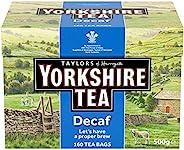 Yorkshire Tea Decaf, 160 Tea Bags (Pack of 6, total 960 teabags)