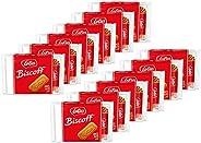 Lotus Biscoff | 歐式曲奇餅干 | 3.28 盎司(93克) (12件裝12) | 每件2包,每包6塊 | 素食