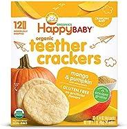 Happy Baby Organics Organic Teether Crackers Gluten Free Mango & Pumpkin With Amaranth, 0.14 Oz, 12 Packet