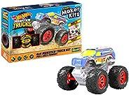Revell 威望 50317 Monster Truck Racing #1,玩具车 1:32 带跳跃轴 Hot Wheels Maker Kitz-组装和出发,带回拉马达(回拉)白色/蓝色