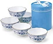 NARUMI 鳴海 碗碟套裝 Milano 藍色 直徑110×高52毫米 5件套 日本制造 9682-21626