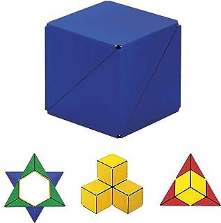 GeoBender 几何3D立方体,磁性3D拼图立方体大号 - 抗压力玩具 - 磁铁玩具儿童 STEM/STEAM教育玩具(初级-2)